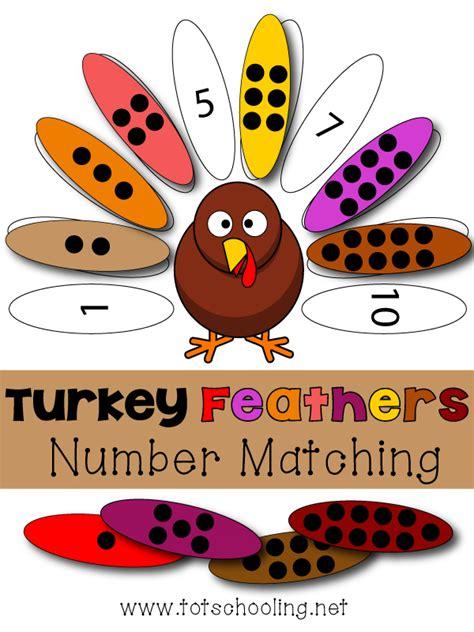 turkey math template free turkey numbers match printable free homeschool deals