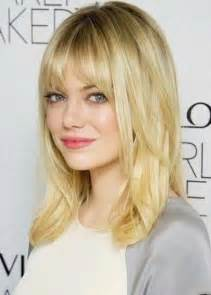 Medium Length Hairstyles with Bangs for Straight Hair
