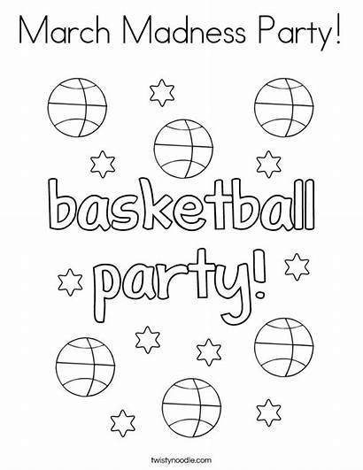 March Coloring Madness Pages Printable Party Basketball