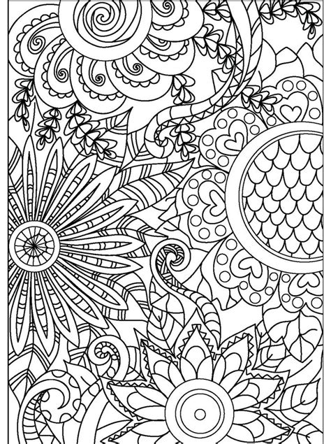 17 best images about floral coloring pages for adults on