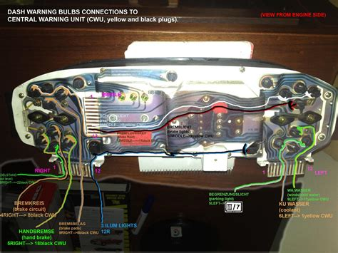 instrument cluster and central warning unit with color wires rennlist discussion forums