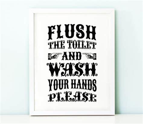 flush  toilet wash  handsbathroom  thecrownprints