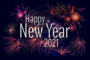 Happy New Year 2021 Greeting With Colorful Fireworks Stock Image - Image of holiday, display ...