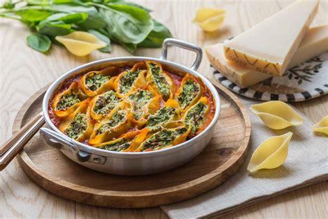 recettes cuisine libanaise conchiglioni farcis aux epinards ricotta grana padano