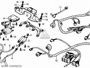 honda cbr600f hurricane 1987 h usa parts list With 1987 honda hurricane 1000 wiring diagram wiring harness wiring