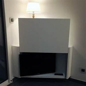 Meuble Cache Tv : meuble d angle et cache tv par guillaume b ~ Premium-room.com Idées de Décoration