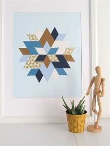 Trendy and colorful diy geometric wall art shelterness