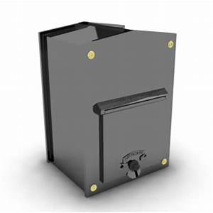 350 485mm model shown in black gloss with a brass With through wall letter chute