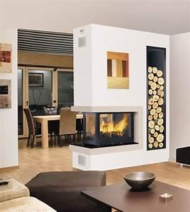 Cheminée Bois Design : chemin e bois 3 faces foyer ferm ~ Premium-room.com Idées de Décoration