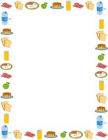 Breakfast Food Border Clip Art Free