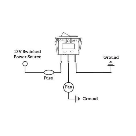 Dual Electric Radiator Fan Rocker Toggle Switch Wiring