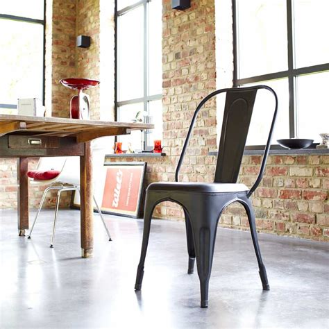 chaise style industriel achat chaise metal style industriel pour salon tikamoon