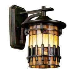 allen roth vistora 11 75 in h bronze outdoor wall light