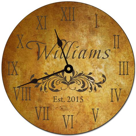 Tus Yalized Family Namell Clock