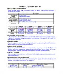 Project Closure Report Template 8 Documents In Pdf Word