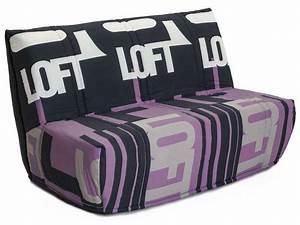 Banquette Lit Bz : banquette lit bz b loft coloris violet conforama pickture ~ Teatrodelosmanantiales.com Idées de Décoration