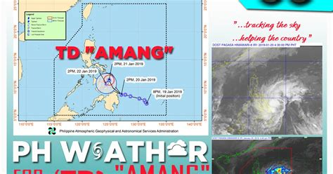 Weather Update For Tropical Depression Amang
