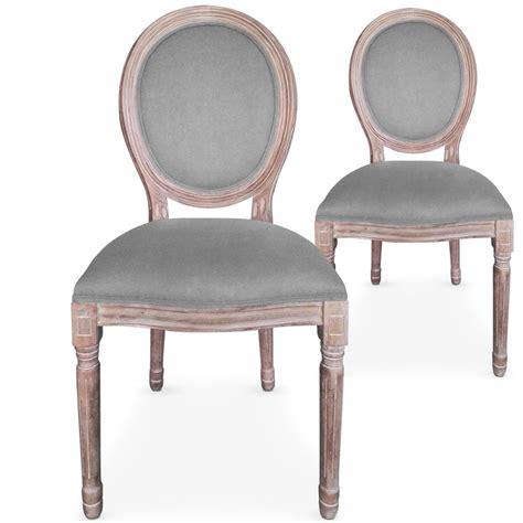 chaises m 233 daillon bois vieilli assise velours gris lestendances fr