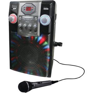 shower karaoke machine gpx j182b karaoke player machine mic with light