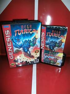 Mega Turrican With Manual Guide   Retail Box 16 Bit Md