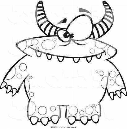 Monster Coloring Pages Printable Cartoon Scary Ryan