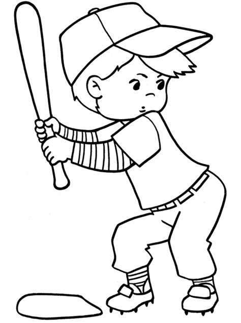 kids page baseball coloring pages