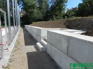Mauer Aus Betonfertigteilen : pomosus garten und landschaftsbau mauer ~ Markanthonyermac.com Haus und Dekorationen