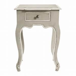 table de chevet avec tiroir en manguier grise l 40 cm With maisons du monde chevet