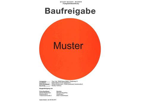 Was Kostet Eine Nutzungsänderung by Bauantrag Stadt Baden Baden