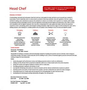 Exle Of Chef Resume by Chef Resume Template 14 Free Word Excel Pdf Psd