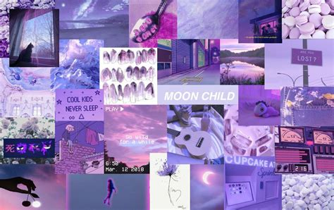 aesthetic purple laptop wallpapers
