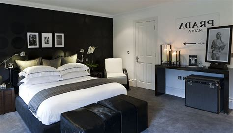 Decorating Ideas For Mens Bedroom by Charming Mens Bedroom Ideas Also Bed And White