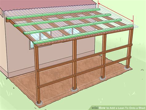 shed style house 6 ways to add a lean to onto a shed wikihow