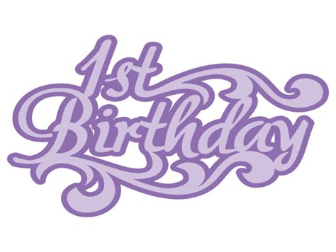 Free svg files for all your diy projects. 1st birthday title svg | Images By Heather M's Blog