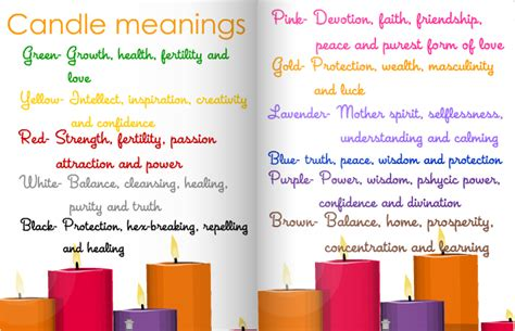 candle color meaning chart cino secret cravings paranormal hop