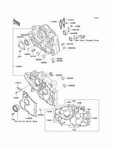 Crankcase For 2000 Kawasaki Klf300 Bayou 300  N