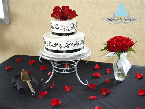 Small Black And Red Wedding Cakes