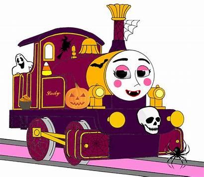 Lady Halloween Thomas Decorations Engine Tank Face