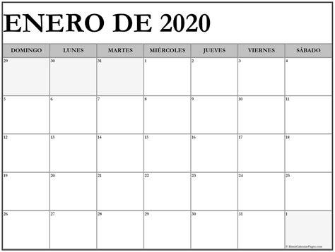 calendario 2020 da stare gratis enero de 2020 calendario gratis calendario de