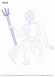 Step by Step How to Draw Poseidon : DrawingTutorials101.com
