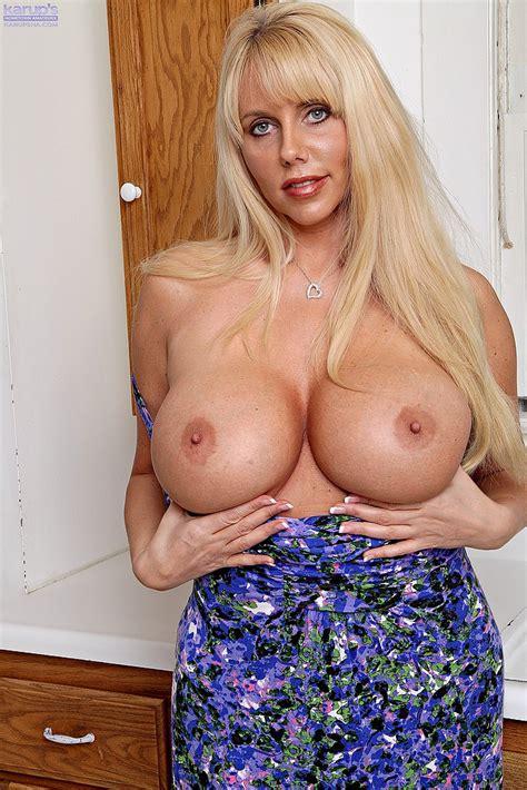 blonde and boobsie milf karen fisher get naked busty vixen
