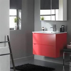Meuble Salle De Bain Haut : meuble haut salle de bain rouge ~ Teatrodelosmanantiales.com Idées de Décoration