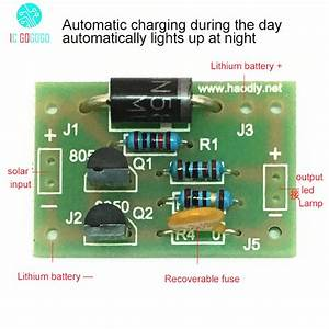 Diy Kits Solar Lamp Board Control Sensor Lithium Battery