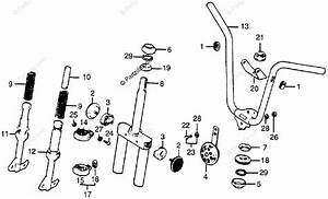 Honda Motorcycle 1978 Oem Parts Diagram For Handlebar    Horn