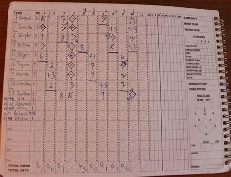 school baseball scoring somethings   classic