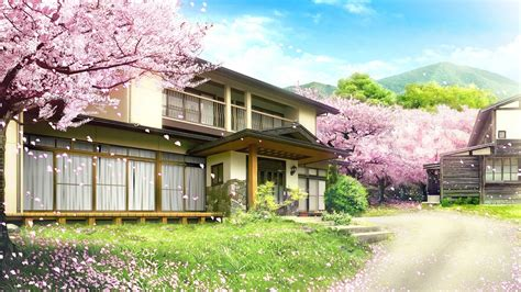 Anime House Wallpaper - anime landscape house anime background
