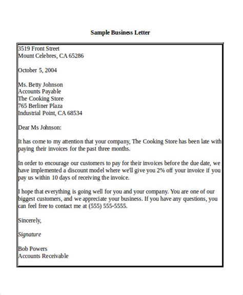 sample business letter salutation  examples  word