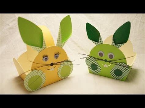 ostern basteln ideen osterk 246 rbchen osterhase basteln zu ostern how to make an easter bunny egg basket
