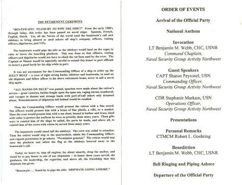 ceremony program template af retirement ceremony program template templates resume exles j1akb9mgme