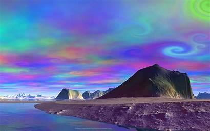 Alien Trippy Planet Desktop Background Planets Skies
